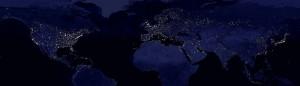 NASA - Erde bei Nacht (Wikipedia)