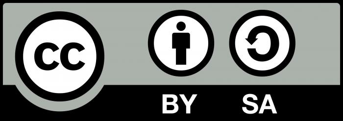 Das Logo für die Creative Commons BY-SA. Die Lizenzbedingungen finden Sie hier.