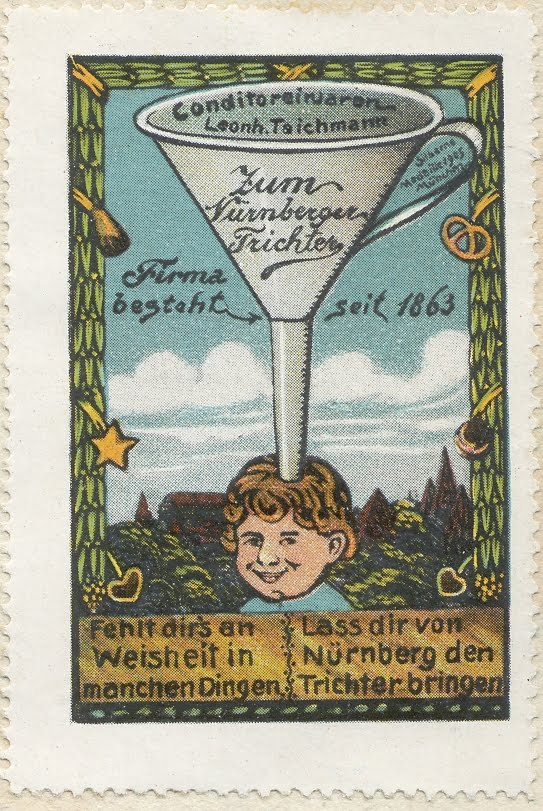 Nuremberg_Funnel_-_ad_stamp_1910 (Wikimedia Commons)