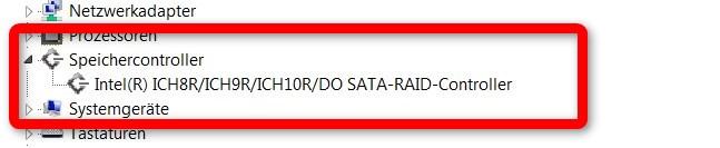 Intel Raid Controller im Gerätemanager
