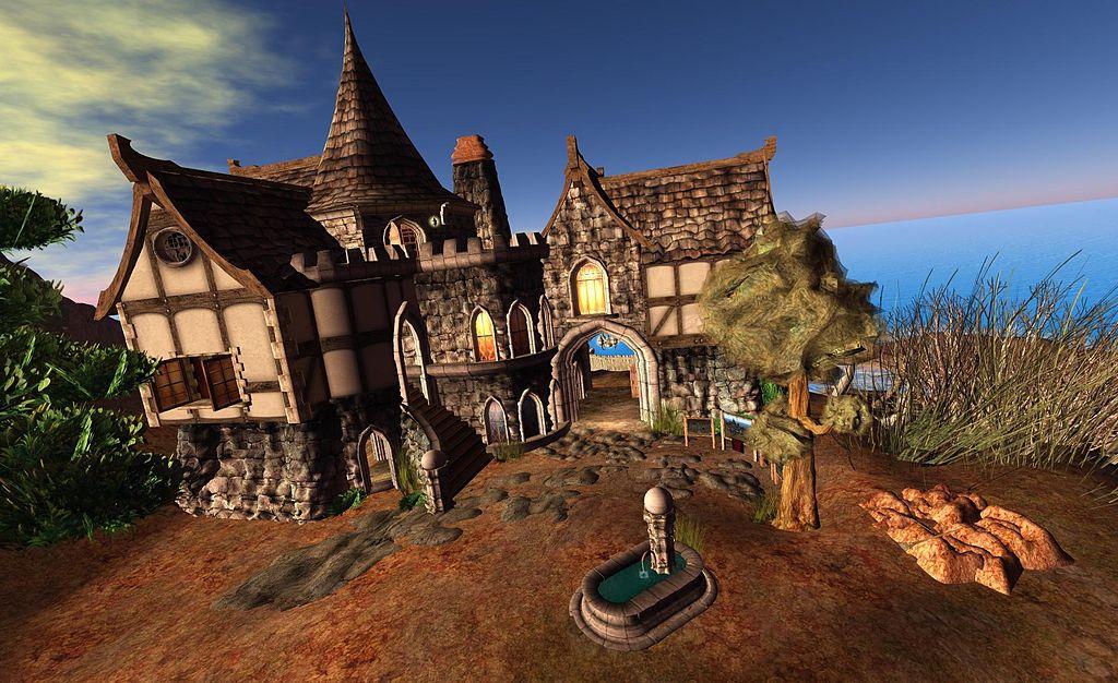 Torley - Gebäude im Spiel Second Life. Verwendung unter den Bedingungen der Creative Commons (BY-SA)